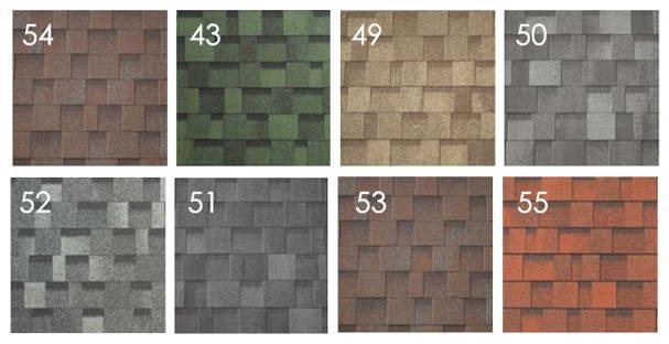 Cambridge Xpress tetőzsindely színek