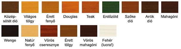 Milesi XGT vízhígítású vékony lazúr színek
