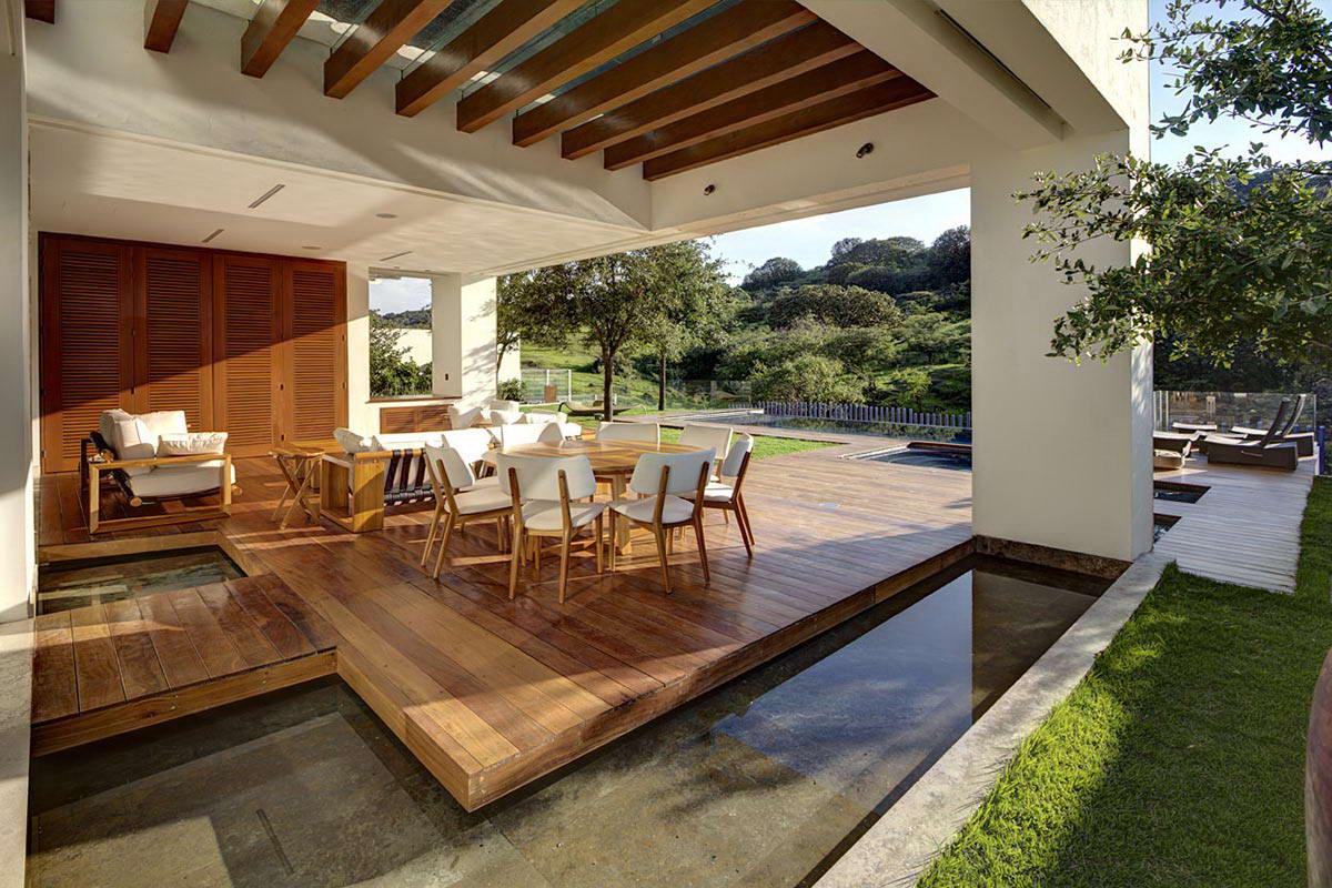 Modern terasz stílusjegyei