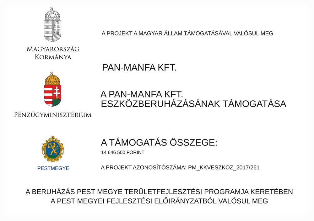 Panmanfa fatelep eszközberuházás