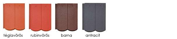 Bramac Reviva Merito Plus tetőcserép színek