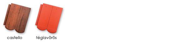 AZZURRO Hódfarkú tetőcserép színek