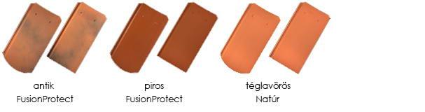 Tondach Pilis ívesvágású tetőcserép színek
