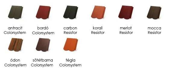 Terrán Rundo tetőcserép színek
